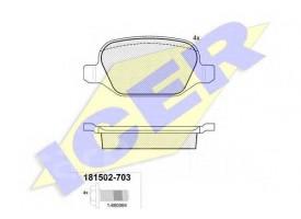 Тормоз колодки зад 147 156 GT Linea