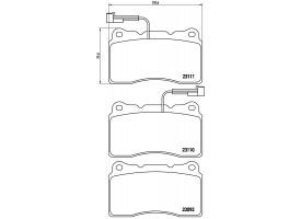 Тормозные колодки передние AR 159/166/Brera/Spider/Giulietta/ Lancia Kappa